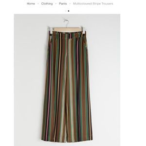 & Other Stories Multicolored Striped Trousers